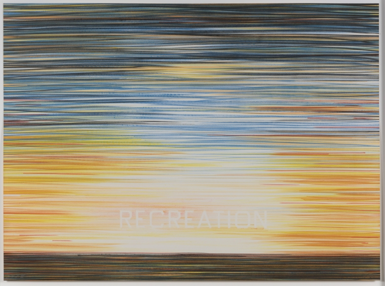 Ed Ruscha, It's Recreational, from the World Series, Lithograph