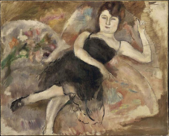 Jules Pascin, La Robe du Soir, Oil