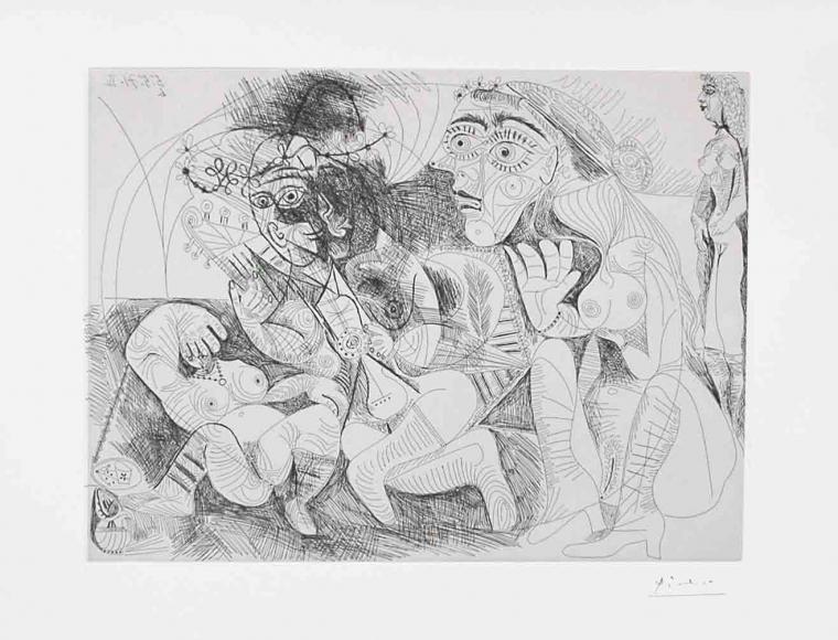 Pablo Picasso, Filles Entre Elles, 156 Series, Etching