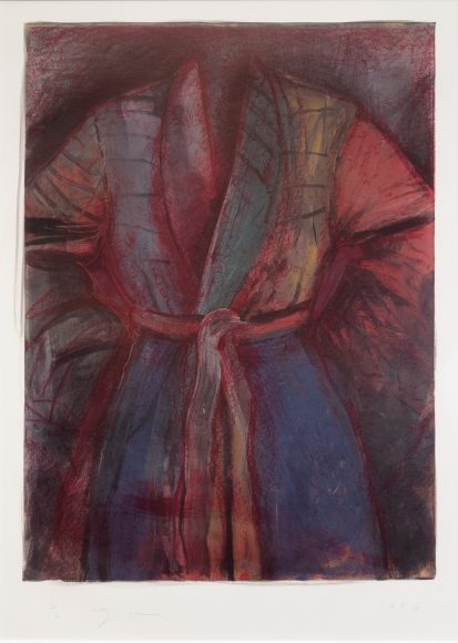 Jim Dine, Red Robe In France, Lithograph, Etching