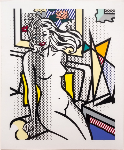 Roy Lichtenstein, Nude with Yellow Pillow, Relief print