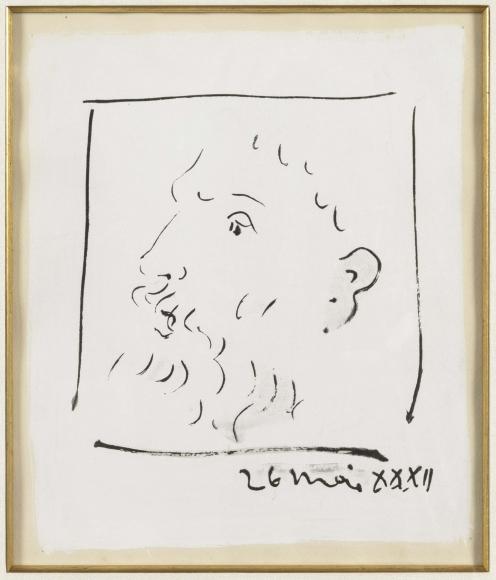 Pablo Picasso, Tete d'Homme Barbu, Monotype
