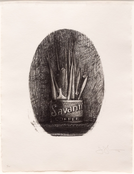 Jasper Johns, Savarin 4 (Oval), Lithograph