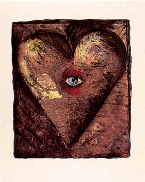 Jim Dine, Hand Colored Viennese Hearts V, Screenprint