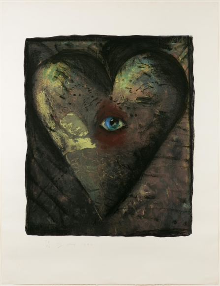 Jim Dine, Hand Colored Viennese Hearts V, Screenprint
