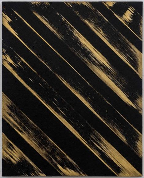 Ed Moses, Gold/Black, Acrylic