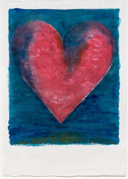 Jim Dine, A Heart on teh Rue de Grenelle, Etching, Aquatint