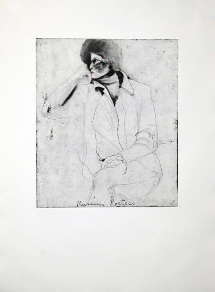 Jim Dine, Russian Poetess, Etching