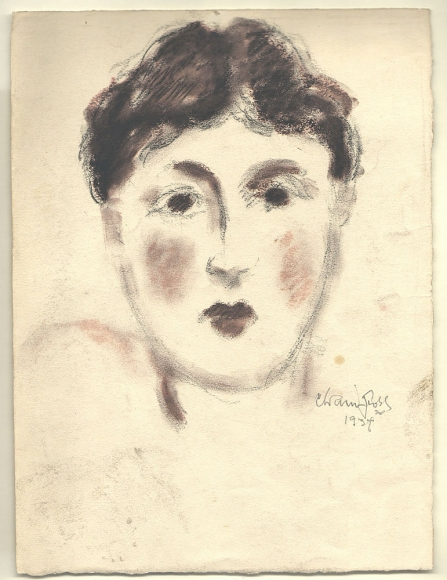 Portrait of a Woman, 1934, Pastel on Paper, 10 1/8 x 7 1/2 inches