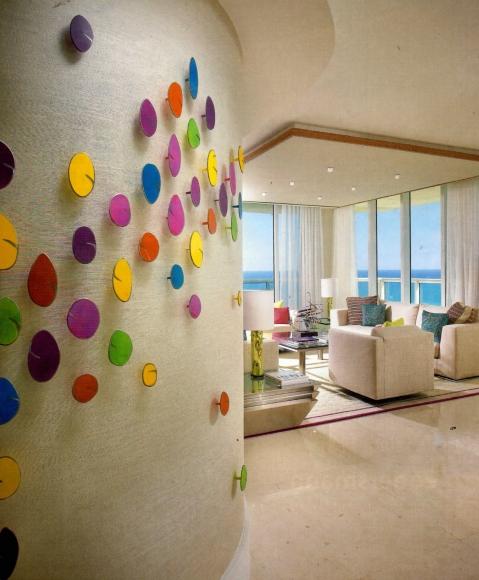 Multicolored installation