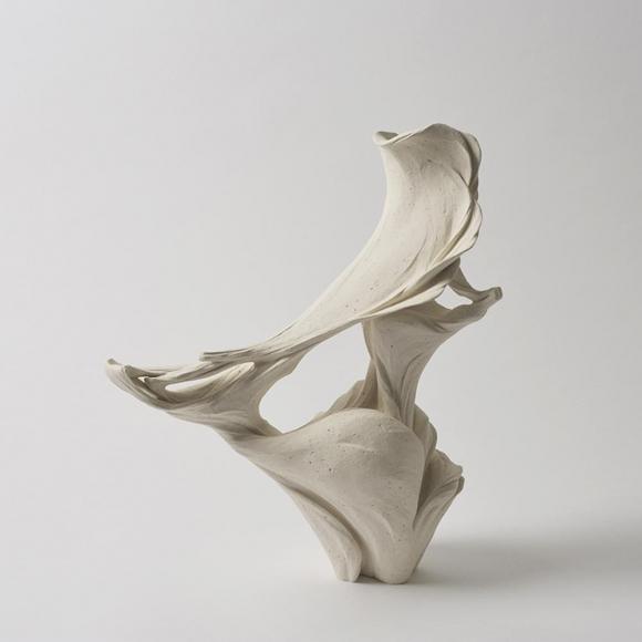 Fujikasa Satoko, Wind Direction, 2015, Stoneware with white slip-glaze, Japanese ceramics, Japanese contemporary ceramics, Japanese sculpture, Japanese pottery