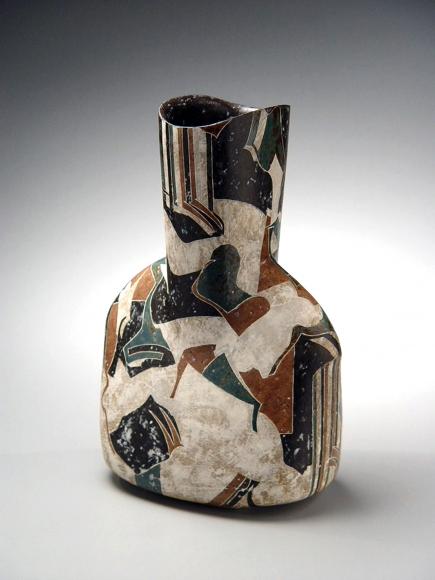 Wada Morihiro, Japanese sculpture, Japanese ceramic, Japanese vessel, Japanese stoneware, Japanese glazed stoneware, 1992