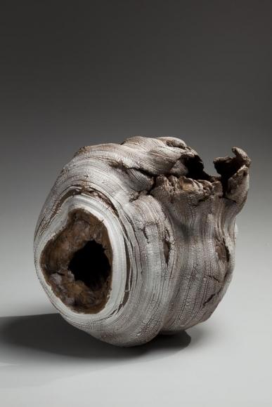 Futamura Yoshimi, Black Hole, 2014, stoneware and porcelain slip, Japanese ceramics, Japanese pottery, Japanese porcelain, Japanese sculpture, Japanese female artist, female ceramist