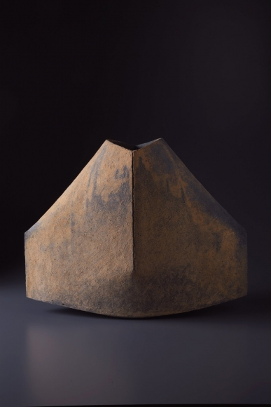 Multi-fired mountain shaped vessel, 2007, Japanese contemporary ceramics, modern, sculpture