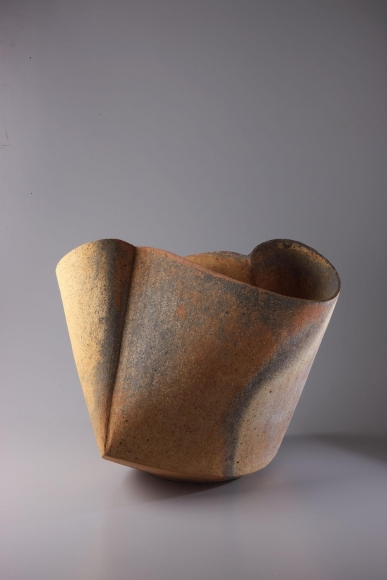 Multi-fired stoneware vessel, 2011, Japanese contemporary ceramics, modern, sculpture