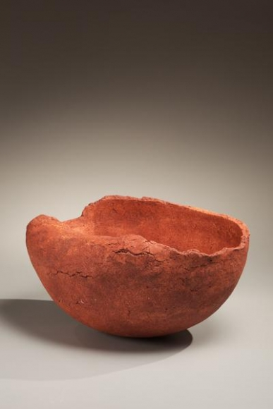 Ogawa Machiko, Red vessel, 2009. Japanese contemporary ceramics, Japanese sculpture