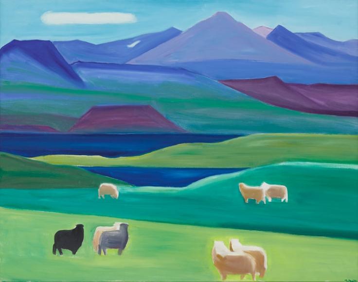 Mountain and Sheep