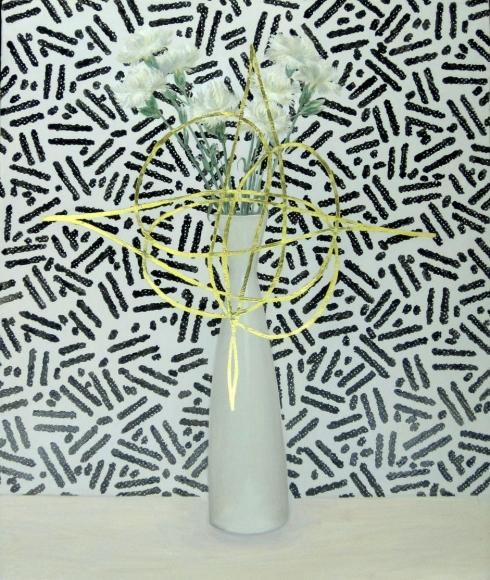 Jen Mazza Carnations with Fantasy Pattern (Zeisel), 2014