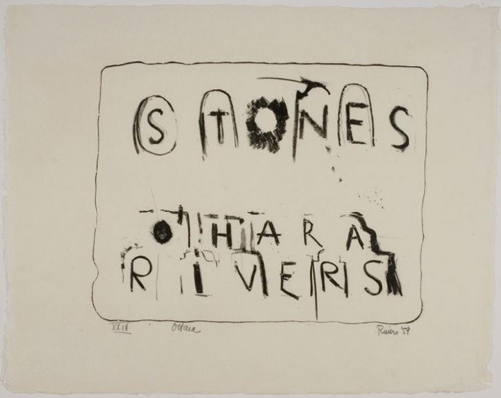 Larry Rivers & Frank O'Hara Stones #1-13, 1959