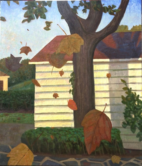 Chatwood Garage and Falling Leaves, 2016