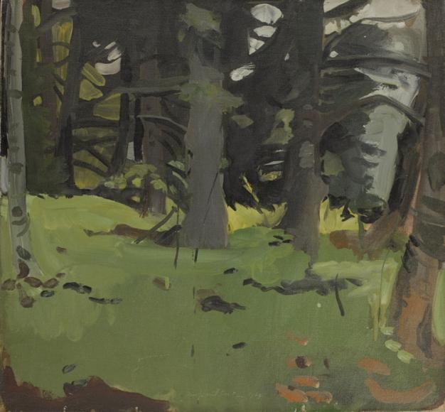 Fairfield Porter, Spruce and Birch, 1964