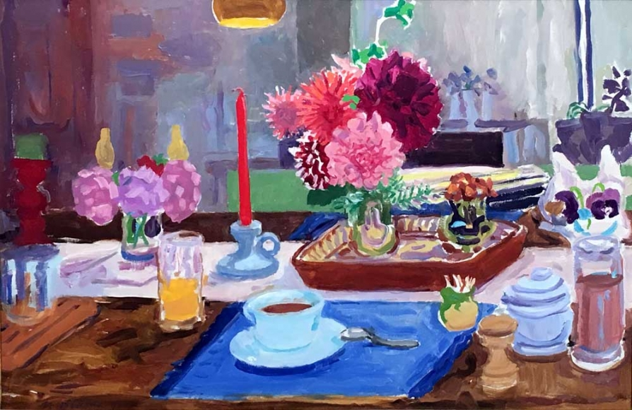 Nell Blaine Table, Nearly Dawn, 1980