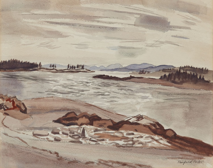 Fairfield Porter, Untitled (Maine Harbor), c.1950