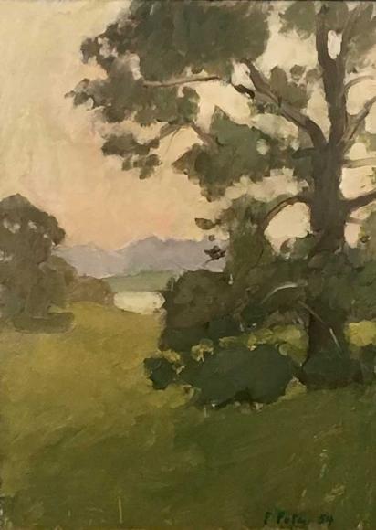 Fairfield Porter, Tree, 1954 oil on linen 20 1/2 x 15 inches
