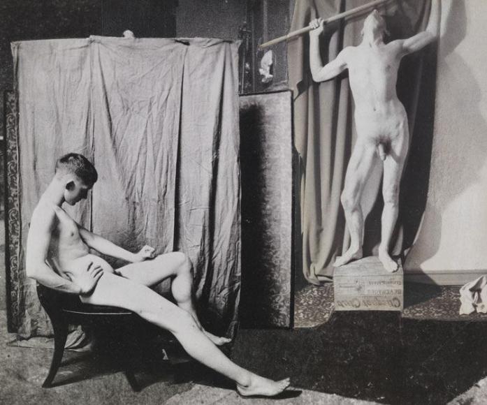 John O'Reilly Modeling In Ingres Studio, 1985