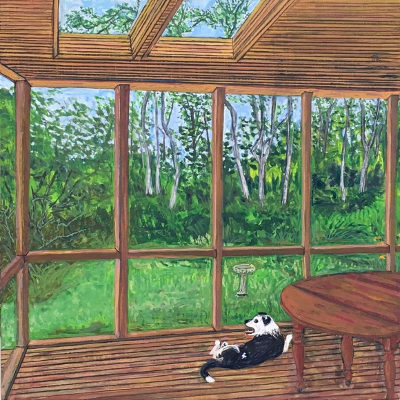Sarah McEneaney North Truro Porch, 2015