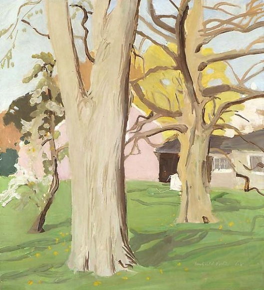 Fairfield Porter, Trees in Bloom, 1968