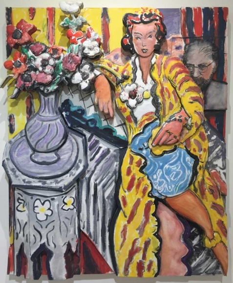 Woman Reclining in a Yellow Robe, 1997