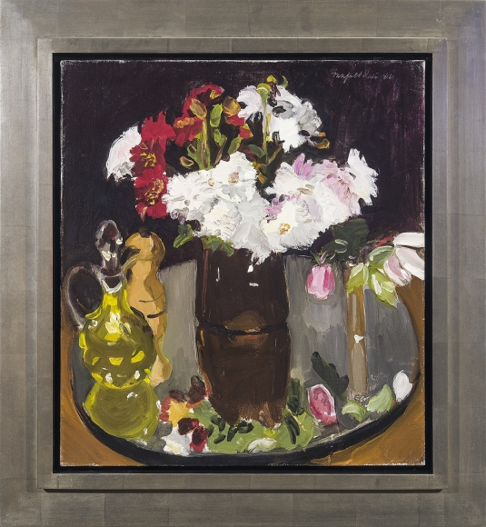 Fairfield Porter, Still Life of Flowers on a Mirror, 1966