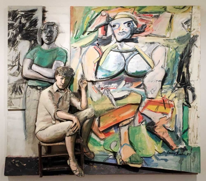 Larry Rivers Bill and Elaine de Kooning and 'Woman I', 1997
