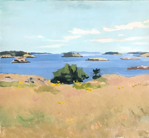 Fairfield Porter, View From Bear Island, 1968