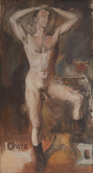 O'Hara Nude with Boots, 1954