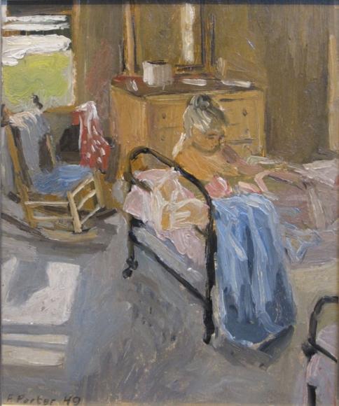 Fairfield Porter, The Bedroom, 1949