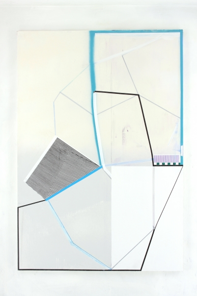 "Gordon Moore's Section (2016. Acrylic, Oil and Pumice on Canvas. 86"" x 57"") at Anita Rogers Gallery"