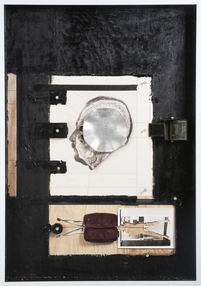 """Hans Neleman's The Tray (Mixed Media. 34"""" x 24"""" x 4"""") at Anita Rogers Gallery"""