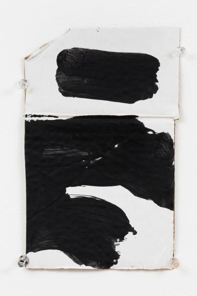 "Virva Hinnemo's Acoustic (Acrylic on cardboard, 9 3/8"" x 5 7/8"") at Anita Rogers Gallery"