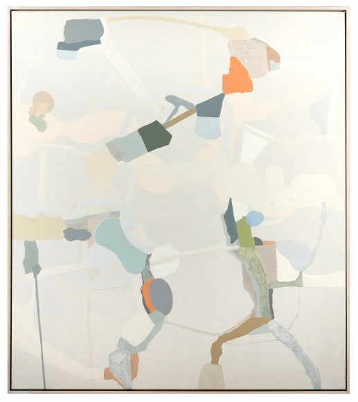 "Carrie Johnson's Untitled. (2005. Oil on canvas.  68"" x 60"") at Anita Rogers Gallery"