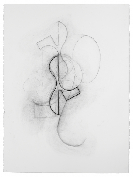 "Jan Cunningham's Arabesque Drawing XXVI. 2017. Charcoal on paper. 30"" x 22"""