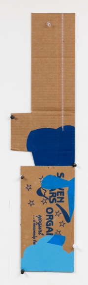 "George Negroponte's Seven Stars (Tape, enamel and acrylic on cardboard, 24 1/2"" x 6"") at Anita Rogers Gallery"