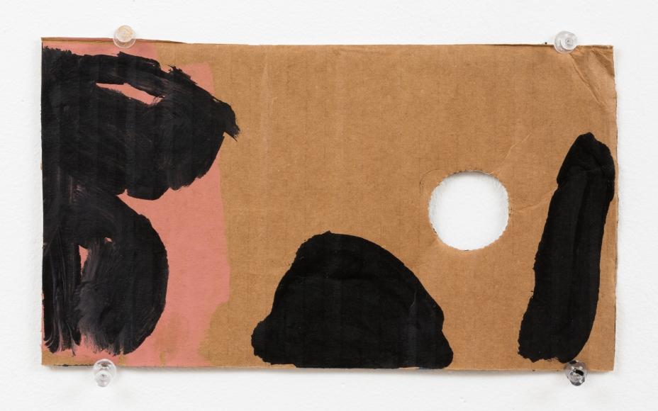 "Virva Hinnemo's Cut Star (Acrylic on cardboard, 5 1/2"" x 9 3/4"") at Anita Rogers Gallery"