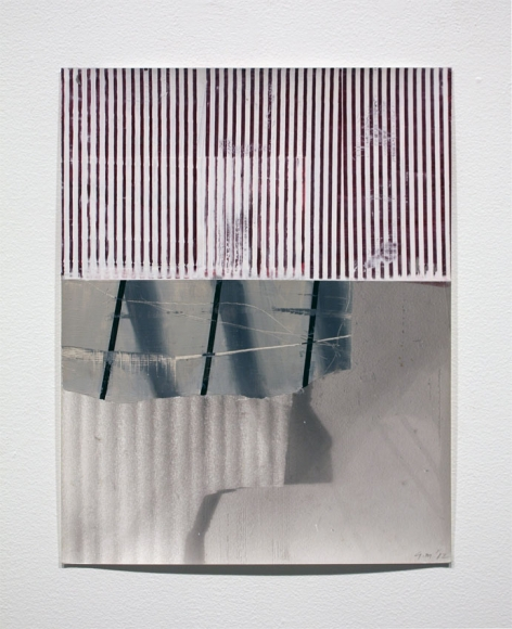 "Gordon Moore's Untitled (2012. Ink and Paint on Photo Emulsion Paper. 14"" x 10.5"") at Anita Rogers Gallery"