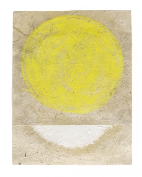 "Kazimira Rachfal's 'squaring the circle', series I, #2 (Oil on paper. 6"" x 4 1/2"") at Anita Rogers Gallery"