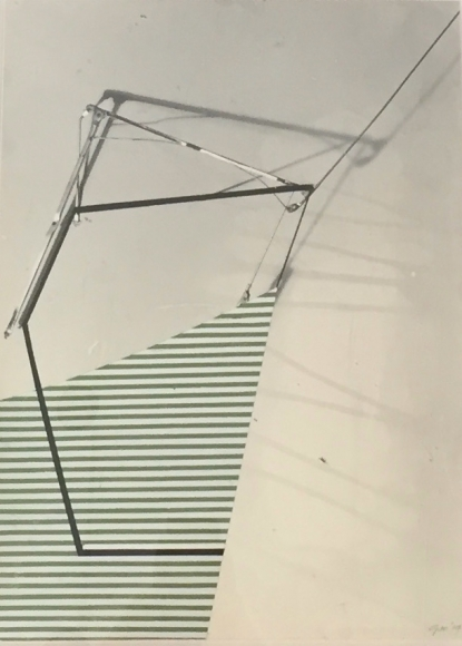 """Gordon Moore's Untitled (Ink & paint on photo emulsion paper. 16"""" x 12"""" ) at Anita Rogers Gallery"""
