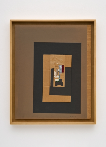 Untitled, 1957 Cardboard, foil, paper and tape collage on board