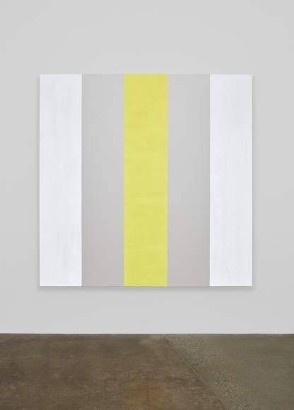 Mary Corse Kayne Griffin Corcoran Contemporary Artist Image Of Untitled White/Yellow 2015 Glass Microspheres in acrylic on canvas