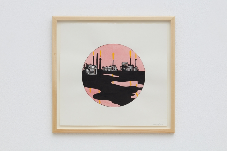 Untitled (Refinery Pink and Black), 1993